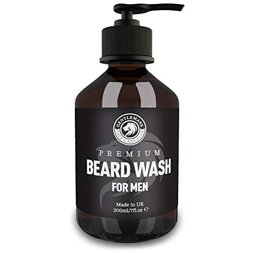 Beard Shampoo - Vegan Friendly Beard Wash & Conditioner For Men - Gently Nourish + Boost Growth With Gentlemans Face Care Club 200ml Organic Beard Softener For Men