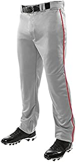 0495df7f554 CHAMPRO Mens Sports Adult Triple Crown Open Bottom Piped Pants