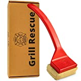 Grill Rescue BBQ Replaceable Cleaning Head, Bristle Free - Durable and Unique Scraper Tools for Cast Iron or Stainless-Steel Grates, Barbecue Cleaner