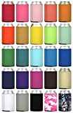 TahoeBay 25 Neoprene Can Sleeves for Standard 12 Ounce Cans Blank Beer Coolers (Multicolor, 25)