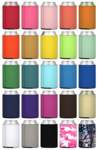 TahoeBay 25 Neoprene Can Sleeves for Standard 12 Ounce Cans Blank Beer Coolers (Multicolor, 25)