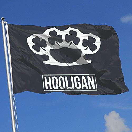 ShiHaiYunBai Flagge/Fahne, Home Backyard Demonstration Flag Irish Hooligan 1 100% Polyester Single Layer Translucent Flags (3 X 5 Foot)