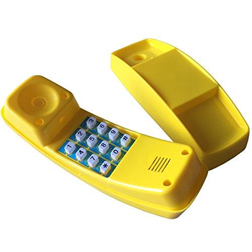 Loggyland Kindertelefon für Spielturm Spielhaus (gelb)