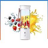 JIEYUEBAI 500 ml de Fruta eléctrica Juicer Glass Mini Mano Hand Portable Smoother Maker Mezclador USB Recargable for el Viaje en casa (Color : White, Size : 1)