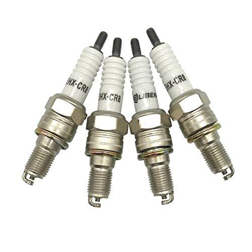 ADFIOSDO 4 unids Vortex Power Spark Plug EHX-CR8 / Ajuste for UH4CC UH5CC RGU94C C8EH-9 C8EH9 CR8EH9 CR8EH-9 CR8EHV CR8EHIX-9 IUH24 U24FER-9 U24FER9 (Color : Metallic)