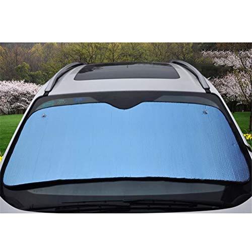 Universele buiten auto voorruit zonnescherm voorruit, aluminiumfolie Opvouwbare auto zonnebescherming schaduwafdekking, 145 * 70cm