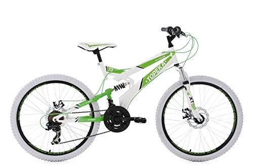 KS Cycling Mountainbike MTB Fully 24\'\' Topeka weiß-grün RH 41 cm