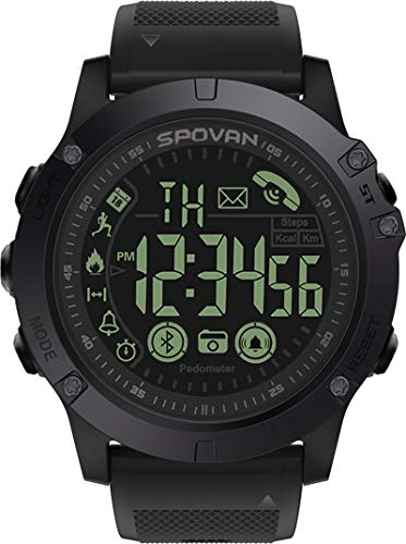 Mens Digital Sports Watch Waterproof Outdoor Military Pedometer Calorie Counter Multifunction Bluetooth Smart Watch Tactical