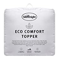 Silentnight Eco Comfort Mattress Topper - Super Soft Luxury Cosy Breathable Sustainable Recycled Enh...