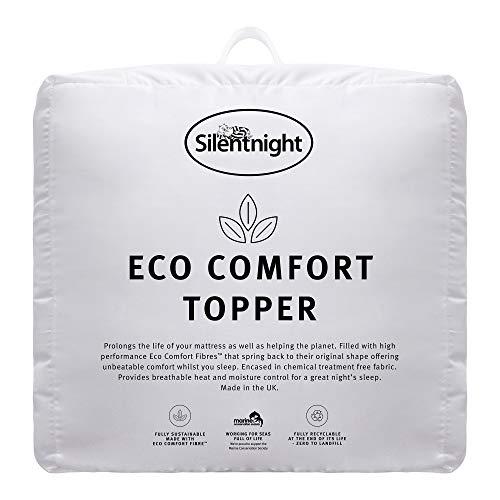 Silentnight Eco Comfort Topper, Double, White, 135 x 190cm