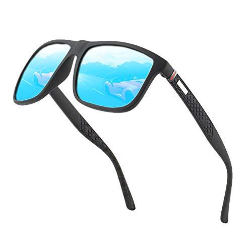 Polarisierte Sonnenbrille Herren /Damen ; Luxus/Vintage / Klassisch/ Elegant Brillengestell; HD-Pilotobjektive; Golf / Fahren / Angeln / Reisebrille ;Sommer Outdoor-Sportarten Mode Sonnenbrille (Blau)