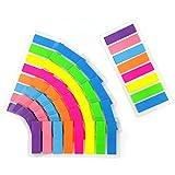 1120 Piezas Notas Adhesivas Índices, fluorescentes translúcidas marcadores de notas adhesivas para Marcar Hojas Informes Libros(8 Colores)