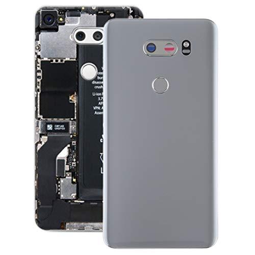 YIHUI Repare Repuestos Tapa Trasera de batería con Lente de cámara y Sensor de Huellas Digitales for LG V30 / VS996 / LS998U / H933 / LS998U / H930 (Plateado) Partes de refacción (Color : Silver)