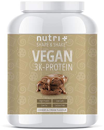 Veganistisch Eiwit Poeder koekjes & crème 1kg - Nutri-Plus Vegan Protein Powder 3k - Eiwitshake 1000g