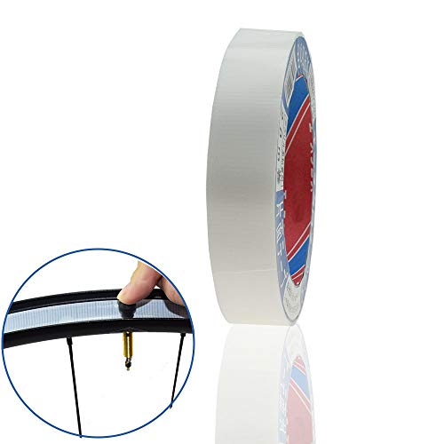DRIFT MANIAC Tubeless Felgenband mit starker Faser, werkzeugfreies Abreiß-Design, 22 mm x 20 m, Weiß