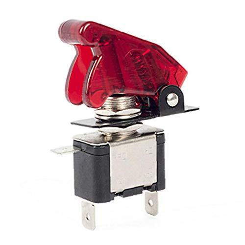 Odoukey Interruptor oscilante 20a 12v llevó la luz con Cubierta Impermeable se Utiliza para Asw-07d Rojo de automóviles, Camiones y Motocicletas Marina