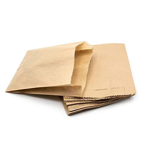 ARTESTAR 100 Bolsas de Papel Kraft marrón, Bolsa de Almacenamiento, Bolsa de Regalo para Dulces de Pan, Bolsas de Regalo de Bricolaje de Papel Reciclado para almuerzos de Fiesta (13 * 15.5cm)
