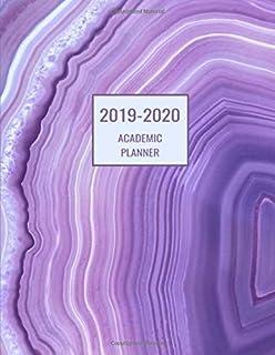 2019 2020 Academic Planner: Violet Marble Swirls  Monthly and Weekly Academic Oranizer; Calendar Schedule; July 2019 to July 2020 (2019-2020 Weekly and Monthly Academic Planners)