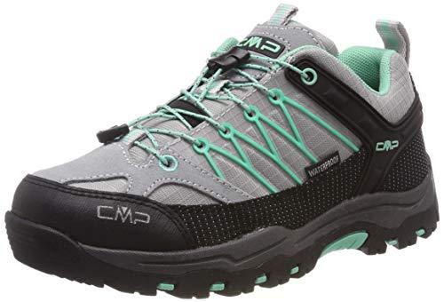 CMP Kids Rigel Low Trekking Shoe WP, Scarpe da Arrampicata Basse Unisex-Bambini, Bianco (Ghiaccio-Aquamint 35xc), 37 EU