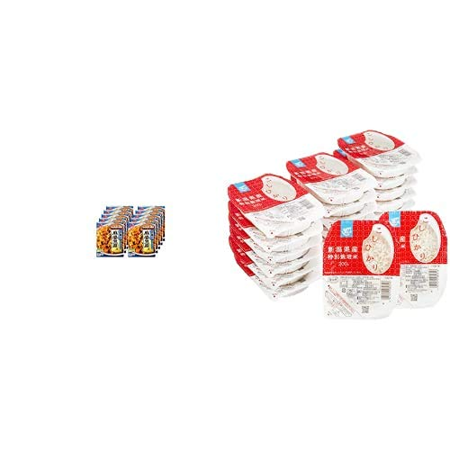 味の素 CookDo(クックドゥ) 広東式麻婆豆腐用 135g×10個入 + Happy Belly パックご飯 新潟県産こしひかり 200g×20個(白米) 特別栽培米