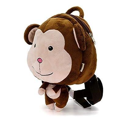 DENNOV Toddler Backpack Bag, Preschool Backpack Bag, Kids Backpack Bag, Cartoon Animal School Bag with Safety Harness Leash, for Girl and Boy 1-6 Years, Monkey Design