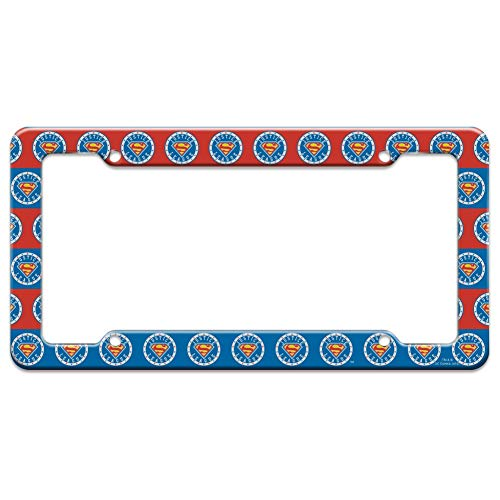Graphics and More Justice League Superman Athletic Logo License Plate Tag Frame