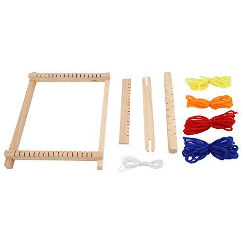 Semme Loom för barn, vävning vävstol set pedagogiska leksaker hjälper barn att lära sig gör-det-själv handgjord vävstol hantverk och odla praktiska förmåga