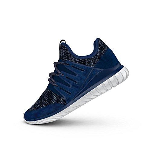 adidas - Tubular Radial - BB2396 - Color: White-Grey-Navy Blue - Size: 7.5