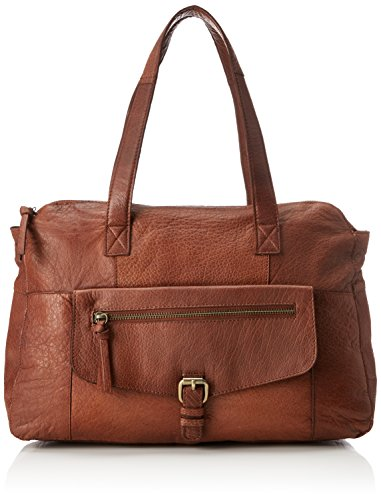 PIECES Damen Schultertasche Leder- ONE SIZEMocca