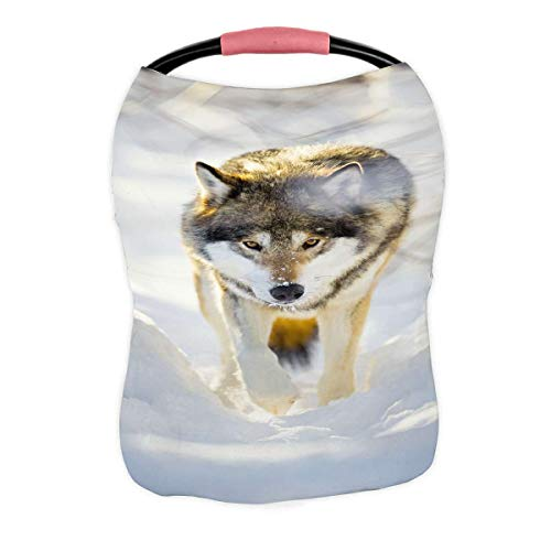 Best Bargain ECZJNT Hunting Wolf Wild Eyes Walking in Winter Forest Nursing Cover Baby Breastfeeding...