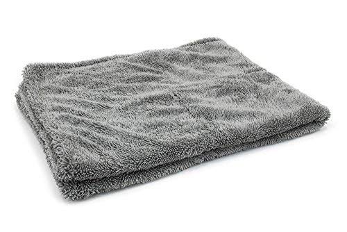 [Dreadnought] Microfiber Car-Drying Towel, Superior Absorbency for Drying Cars, Trucks, and SUVs, Double-Twist Pile, One-Pass Vehicle-Drying Towel (Original (20'x30'), Gray)