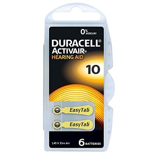 Duracell easyTab 10-60 - Batterie senza mercurio, giallo, senza mercurio, 0% HG