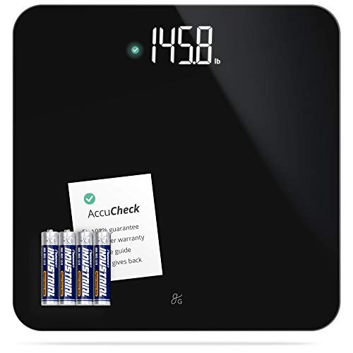 AccuCheck Digital Body Weight Scale from Greater Goods, Patent Pending Technology (Black)
