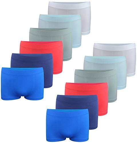 Calzoncillos bóxer para niño - Ropa Interior de Microfibra - Modelo 4 - Pack de 12-14-16 años