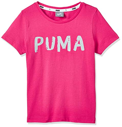 PUMA Mädchen T-Shirt Alpha Tee G 581360 Bright Rose 176