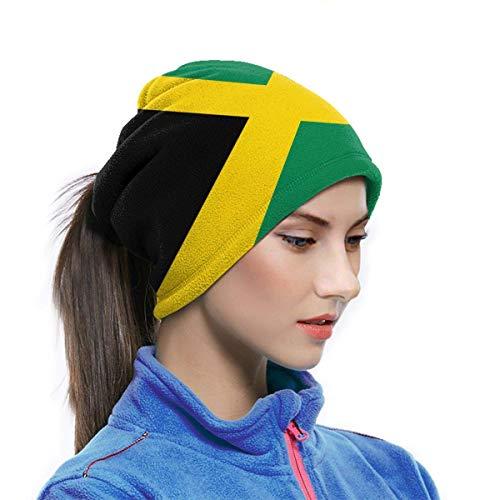 ghjkuyt412 Máscara de microfibra transpirable para el cuello, con diseño de bandera de Jamaica, para clima frío, invierno, actividades al aire libre, polvo, viento, UV, 25 x 30 cm