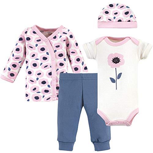 Touched by Nature - Juego de sábanas de algodón orgánico para bebé Unisex, Flores, Prematuro