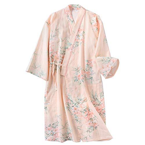 Bata Japonesa para Mujer Kimono Pijamas Talla M-A27