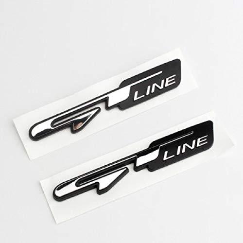 Qwjdsb Für Kia Forte Ceed Stinger Shuma Rio Sportage Soul,5X Auto-Tuning Atuo Emblem Aufkleber GT Line Letters Decals
