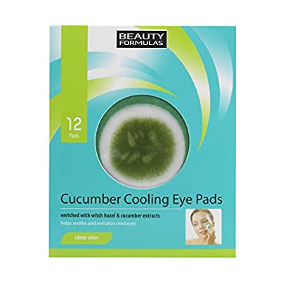 Beauty Formulas Clear Skin Cucumber Cooling Eye Pads 12'S from