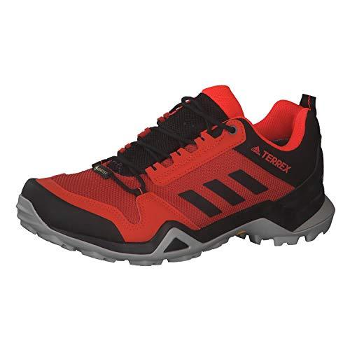 Adidas Terrex AX3 GTX, Zapatillas Deportivas Tiempo Libre y Sportwear Hombre, Negro (Glory Amber/Core Black/Solar Red), 46 EU