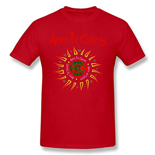 Alice In Chains (3) Men Short Sleeve T-Shirt Graphic Gifts T-Shirts Red M