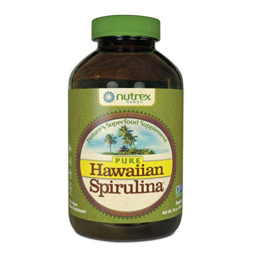 Pure Hawaiian Spirulina Powder 16 oz - Natural Premium Spirulina from Hawaii - Vegan, Non-GMO, Non-Irradiated - Superfood Supplement & Natural Multivitamin