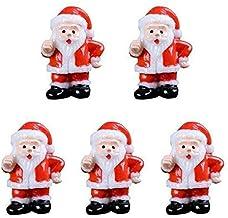 FAKEME 3x 5 Lote Resina Mini Papai Noel Figurinhas