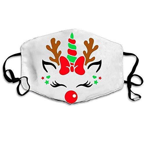 Weihnachtsmaske mit Filter austauschbar verstellbar waschbar 3D-Bedruckte Baumwollmaske Gesichtsschutz für Running Fitness Wandern
