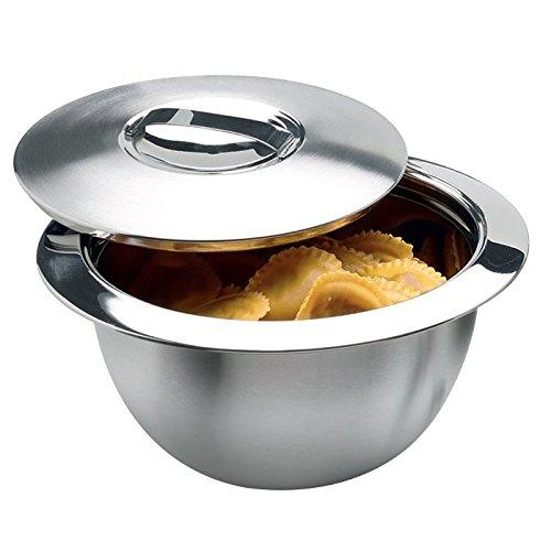 Weis Thermoschüssel mit Deckel Innen-Durchmesser 22,5 cm, Edelstahl, Silber, Aussendurchmesser 30 x 30 x 18 cm Volumen, 3 Liter