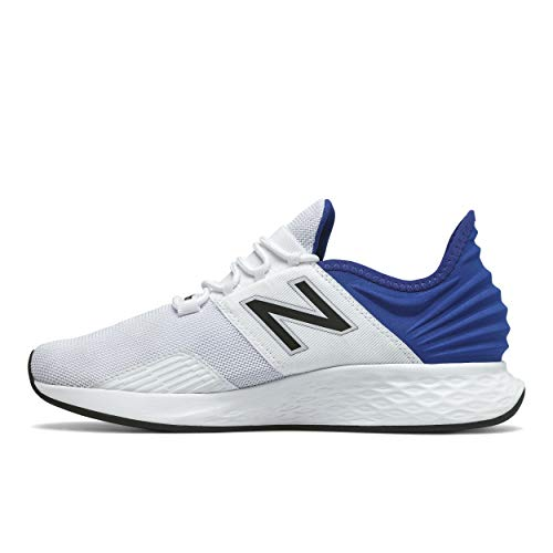 New Balance Men's Fresh Foam Roav V1 Sneaker, White/Team Royal, 10.5