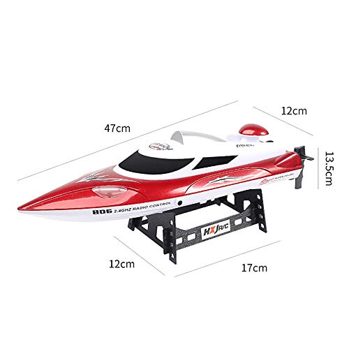 GJQDDP RC Boat, Top Race Control Remoto Water Speed Boat 35KM / H High Speed Racing Boat 2 Canales Control Remoto Barcos para Piscinas Racing Boat,Rojo