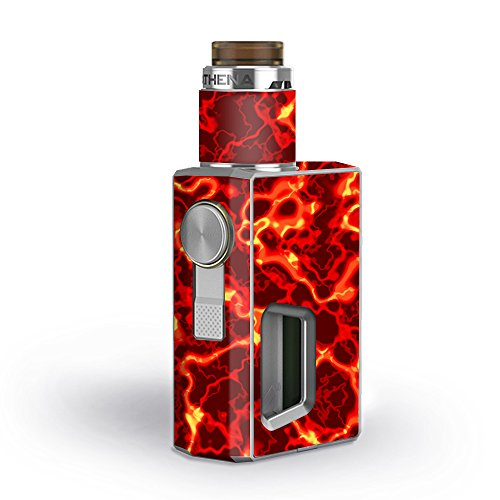 Skin Decal Vinyl Wrap for GeekVape Athena Squonk Kit Vape Kit skins stickers cover / Lave Hot Molten Fire Rage