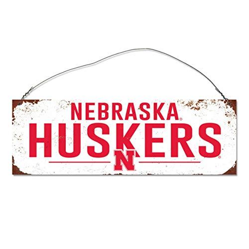 NCAA Legacy Nebraska Cornhuskers Rectangle Tin Sign, One Size, Stock